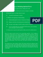 10 Steps to Obtaining Spiritual Power