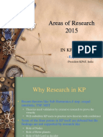 Areas of Research 2015