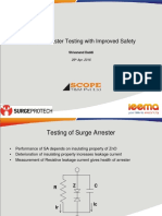 Surge Arrester Testing With Improved Safety-scope