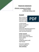 Financial Ratio Shezan