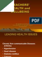 teachers health and wellbeing