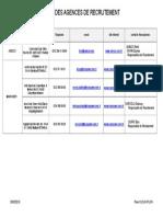 Xls Copie de Xls Agences de Recrutementmai2010