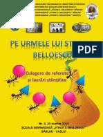 Revista Simpozion Pe urmele lui Stroe S. Belloescu