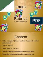 rubric development