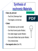 Synthesis of Thermochromic Materials