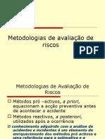 Metodologias de Avaliacao de Riscos