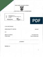 Moneyweb/Fin24 copyright judgment