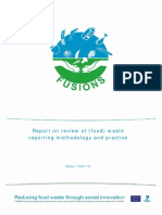 Report on Review of Food Waste Reporting Methodology and Practice