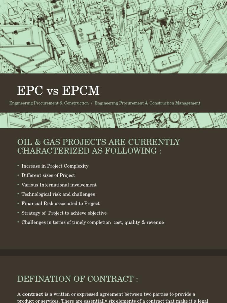 Epc Vs Epcm Construction Management Procurement