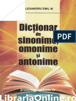 Dictionar de Sinonime Omonime Si Antonime - Alexandru Emil