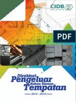 Buku Direktori PENGELUAR TEMPATAN CIDB