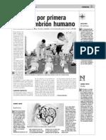 Se clona por primera vez un embrión humano