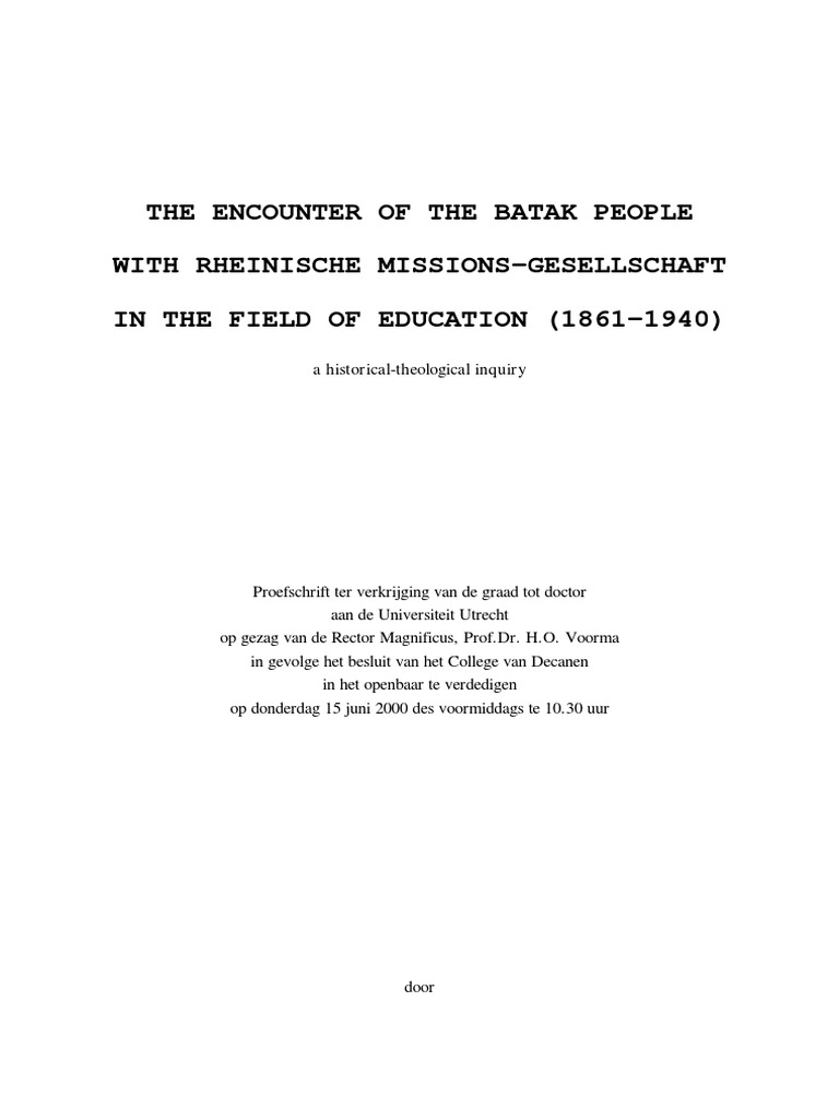 Encounter of the Batak People   Religious Education   Religion And ...