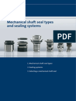 Mechanical shaft seal types and sealing systems