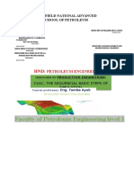 PPETROLEUM PRODUCTION Engineering; Term Paper Project