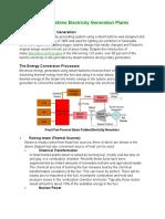Steam Turbine Electricity Generation Plants