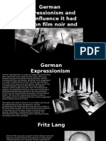 study on film noir and german expressionism