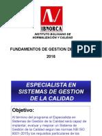 SistemaGestionCalidad01-2016 PRESENTACION