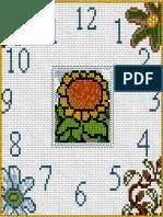 Bordado de Reloj y Flores