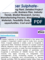 Copper Sulphate- Manufacturing Plant, Detailed Project Report, Profile, Business Plan, Industry Trends, Market Research, Survey, Manufacturing Process, Machinery, Raw Materials, Feasibility Study, Investment opportunities, Cost and Revenue
