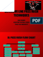 D Line Pass Rush Techniques by Texas Tech University