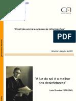 Apresentacao - Contas Abertas CONTROLE SOCIAL GED