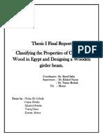Thesis I Final Report (Casurina Wood)