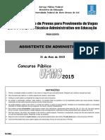 Prova UFMS 2015_assistente_administracao