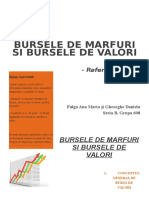 Bursele de Marfuri Si Bursele de Valori