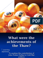 Achievements of the Thaw - General Ppt. Presentation