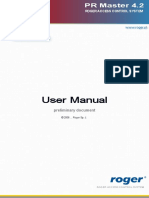 Masco Roger PRmaster4.2 user manual EN