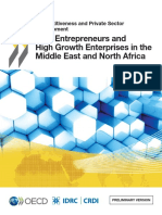 New Entrepreneurs and High Growth Enterprises in the Middle East and North Africa