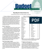 Repealing the Federal Estate Tax, Cato Tax & Budget Bulletin