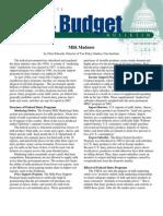 Milk Madness, Cato Tax & Budget Bulletin