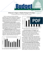 10 Reasons to Oppose a Stimulus Package for the States, Cato Tax & Budget Bulletin