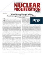 Why China and Russia Balk at Sanctions against North Korea and Iran, Cato Nuclear Proliferation Update