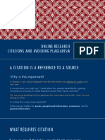 online research - citations