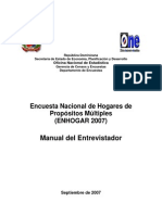 Manual de Intruccion Del Entrevistador