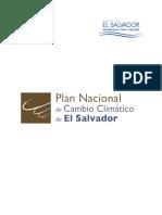 Plan Nacional de Cambio Climatico El Salvador MARN