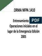Nfpa 1410 Entrenamiento Para Operaciones Iniciales