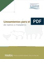 Lineamientos Para El Diseño de Rastros y Mataderos El Salvador