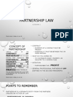 Partnership Law Lesson 1