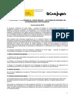 Convocatoria Lectores El Corte Inglés Portugal