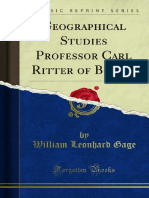 Geographical Studies Professor Carl Ritter of Berlin 1000000232