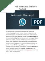 Instalar GB WhatsApp Gratis en Android