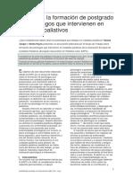 Guía para la formación de psicólogos que intervienen en cuidados paliativos