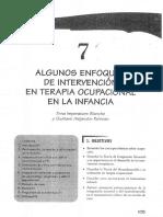 Blanche, E. - Algunos Enfoques de Intervención de Terapia Ocupacional en La Infancia (1)