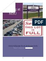 parking at msu white paper finall