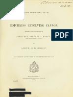 (1886) (Ordnance Memorandum No.27) Hotchkiss Revolving Cannon