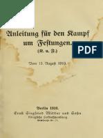 (1910) Anleitung für den Kampf um Festungen